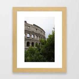The Outside of the Coliseum Framed Art Print