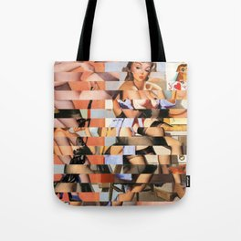 Glitch Pin-Up Redux: Whitney Tote Bag