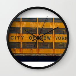 City of New York too Wall Clock