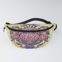 Floral Persian Tile (yellow) Fanny Pack