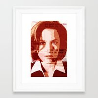 scully Framed Art Prints featuring Dana Scully by Laura