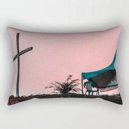 Here we are, now entertain us. Rectangular Pillow