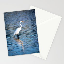 The Pose Of An Egret Stationery Cards