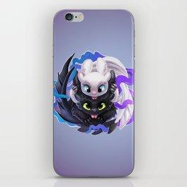 Dragon Black White iPhone Skin