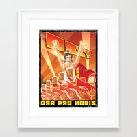 obey Framed Art Prints featuring Obey by Dr.Ink Maniac Division