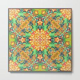 Moth chrysanthemum print Metal Print