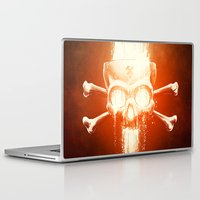 melissa smith Laptop & iPad Skins featuring Black Smith by Dr. Lukas Brezak