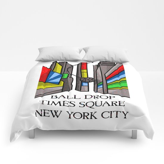 Ball Drop Times Square Comforters