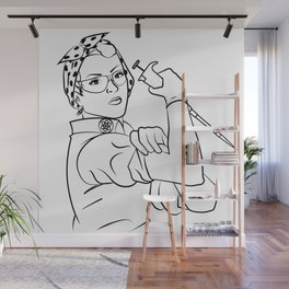 Rosie the Researcher Wall Mural