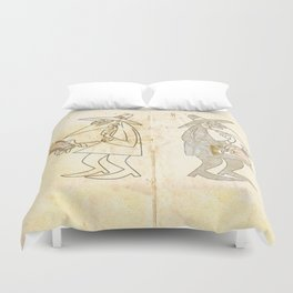 Spy vs. Spy Duvet Cover