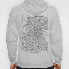 Dublin Map White Hoody