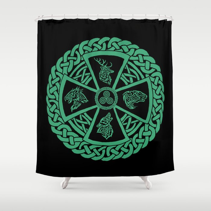 Celtic Nature Shower Curtain