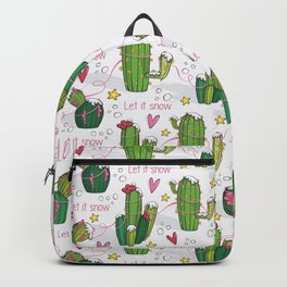 Let it Snow Cactus Backpack