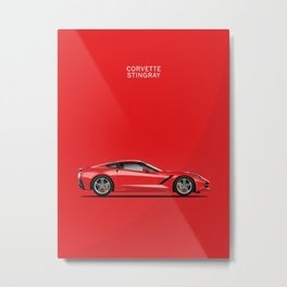 The Red Vette Metal Print