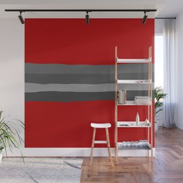 Abstract Grey Lines Wall Mural