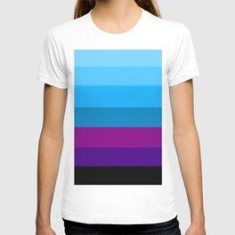Northern Deep Blue Sky - Abstract T-shirt