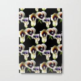 Arum Calla Lilies Pattern in Watercolor Metal Print