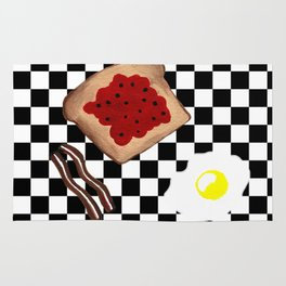 Breakfast - Bacon Eggs Toast Rug