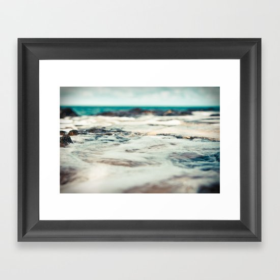 Kauai Sea Foam Framed Art Print