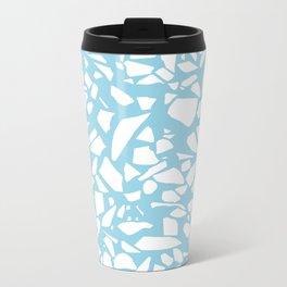 Terrazzo Blue Metal Travel Mug
