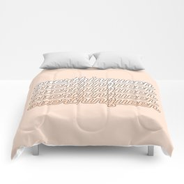 the queen of overthinking Comforters
