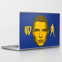 ronaldo Laptop & iPad Skins featuring Christiano Ronaldo - The Sultan of the Stepover by Marc Dahl