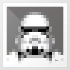 Stormtrooper 8-Bit Art Print