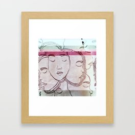 GLITCH FACE(S) Framed Art Print