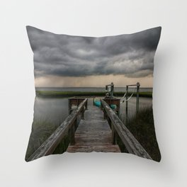 Stormy Sound Side Throw Pillow