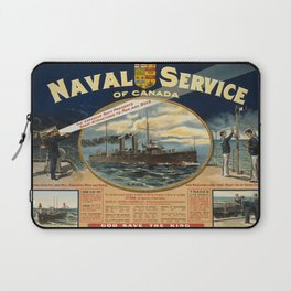 Vintage poster - Naval Service of Canada Laptop Sleeve