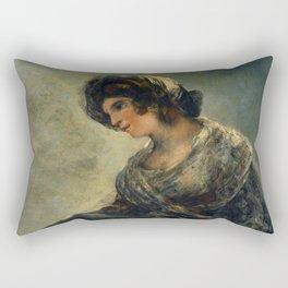 "Francisco Goya ""The Milkmaid of Bordeaux (La lechera de Burdeos)"" Rectangular Pillow"