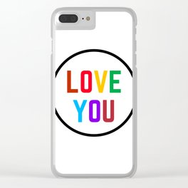 LOVE YOU Clear iPhone Case