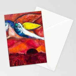 True Love (Songs of Songs IV) by Marc Chagall Stationery Cards