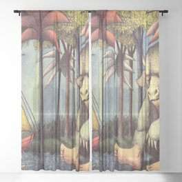 the wild things are, Children's Book Sheer Curtain