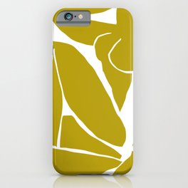 Matisse Cut Out Figure #3 Mustard Yellow iPhone Case