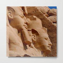 Abu Simbel Egypt Metal Print