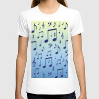 music notes T-shirts featuring Music notes by Gaspar Avila