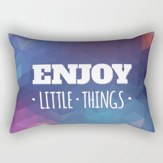 Enjoy Little Things Rectangular Pillow