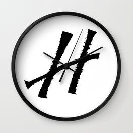 Letter H Ink Monogram Wall Clock