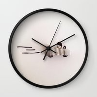 car Wall Clocks featuring CAR by Withfloor
