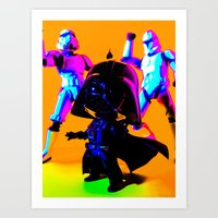 the emperor and his groove Art Print