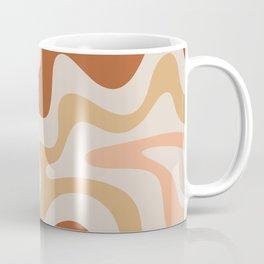 Liquid Swirl Abstract in Earth Tones Coffee Mug