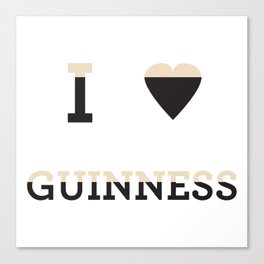 I heart Guinness Canvas Print
