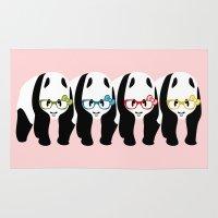 pandas Area & Throw Rugs featuring Pandas by mailboxdisco