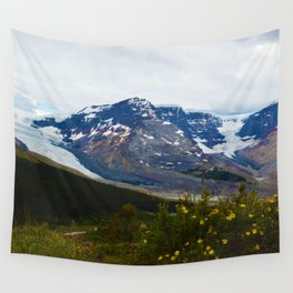 The Athabasca & Snow Dome Glaciers in Jasper National Park, Canada Wall Tapestry