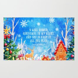 I will honour christmas in my heart Rug