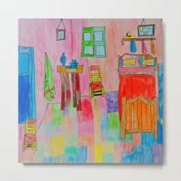 Colorful Bedroom #society6 Metal Print