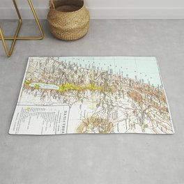 Russian Map of Palestine 1900 Rug