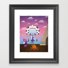 Native Bot Framed Art Print