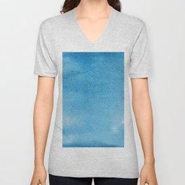 Watercolor Texture Pattern Unisex V-Neck